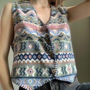 Vintage Next Era southwestern button down vest